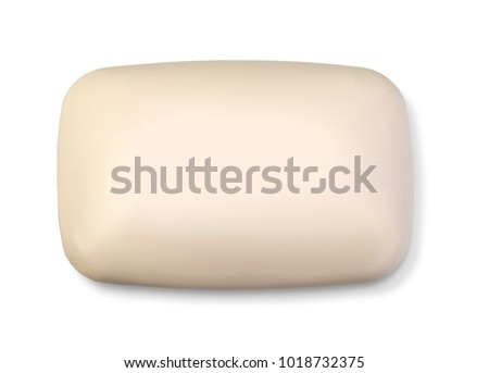 soap bar on the white background with clipping path