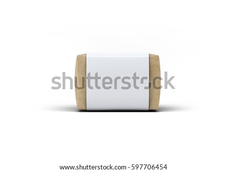 Soap Bar Paper Sleeve Packaging Mock-Up 3D illustration
