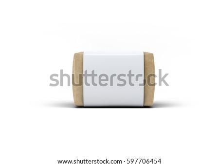 Soap Bar Paper Sleeve Packaging Mock-Up 3D illustration