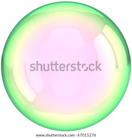 Soap bubble ball foam water drop translucent colorless crystal. Clear aqua liquid shampoo sphere blank button transparent. Detailed 3d render. Isolated on white background