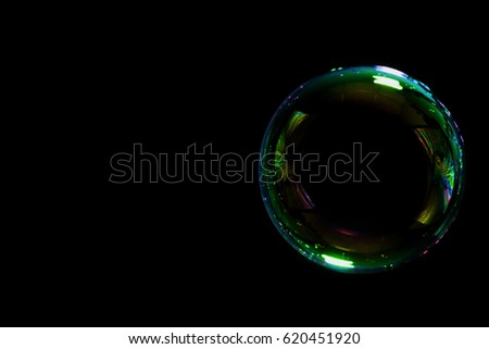 soap bubble on black background #620451920