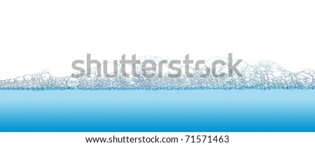 Soap bubbles filled with white background