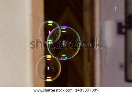 soap bubbles fly in the room #1483807889