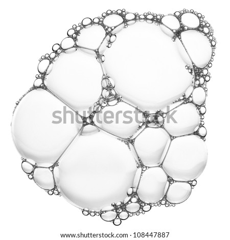 Soap bubbles texture, abstract background