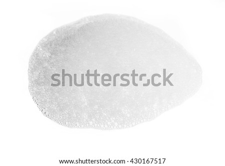 Soap foam bubble on white background object health concept #430167517