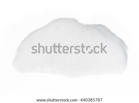 Soap foam bubble on white background object health concept #440385787