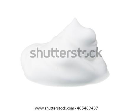 Soap foam bubble on white background object health concept