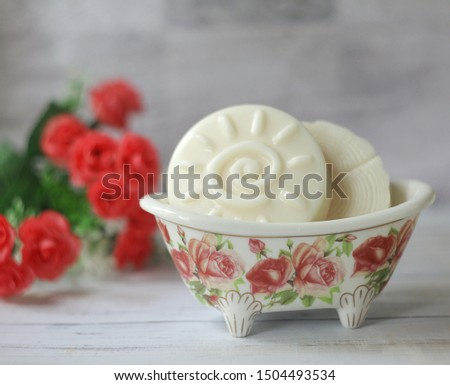 Soap in a beautiful soap tray