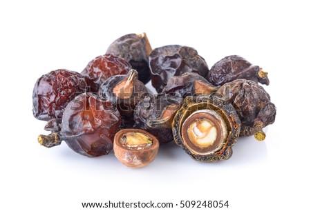Soap nut on white background #509248054