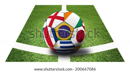 Soccer artwork for Championship 2014. Brazil. #200667086
