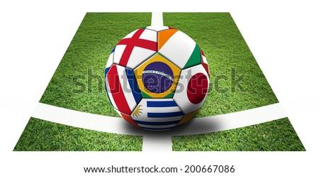 Soccer artwork for Championship 2014. Brazil. #200667086