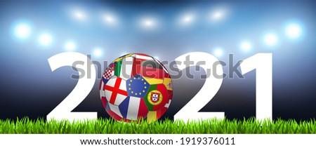 Soccer 2021 Background Ball, Coronavirus