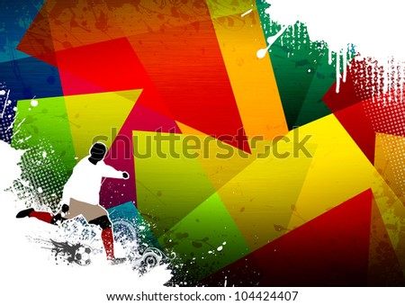 Soccer background with space (poster, web, leaflet, magazine)