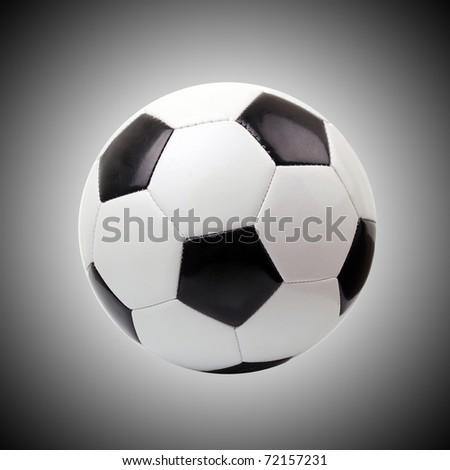 soccer ball against gray background