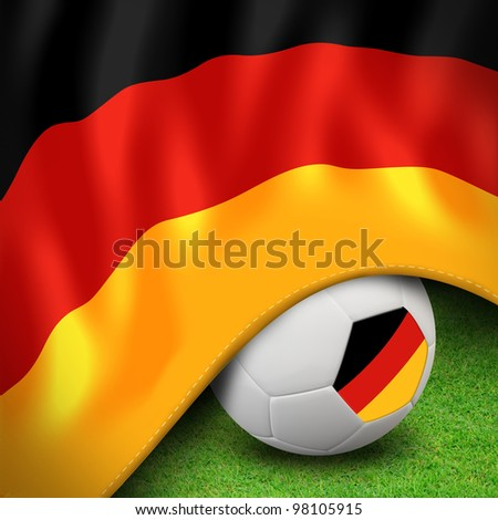 Soccer ball and flag euro germany for euro 2012 group b
