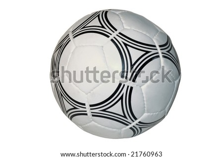 soccer ball close up, isolated on a white background