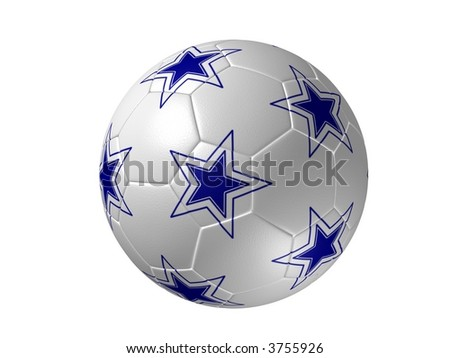 Soccer ball 3D - stock photo