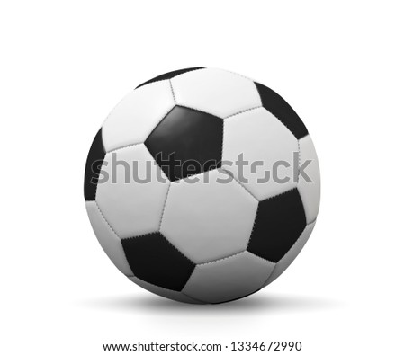 soccer ball 3d illustration