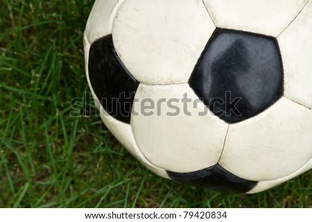Soccer Ball Detail in the Grass