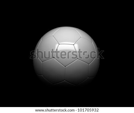 soccer ball detail on black background
