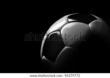 soccer ball detail on black background