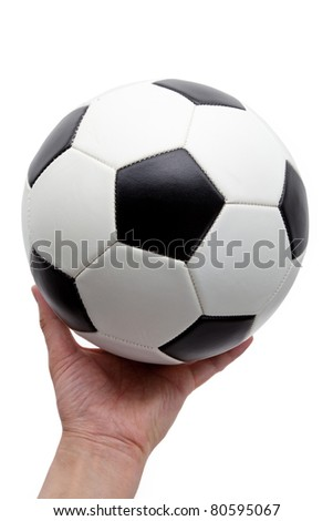 Soccer Ball, football Isolated on White Background