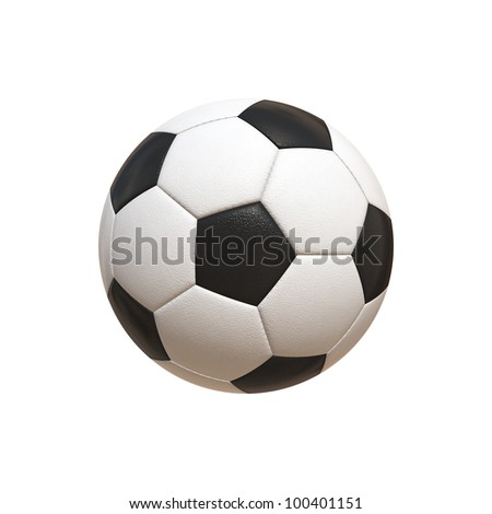 Soccer Ball Hyper Realistic Illustration (jpeg file with clipping path)