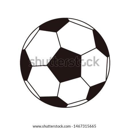 Soccer ball illustration clip art icon