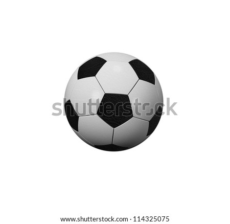 soccer ball isolated on a white background + Clipping Path