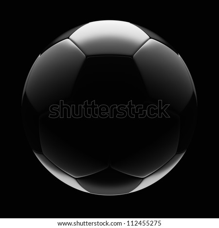 Soccer Ball - Isolated on Dark Background