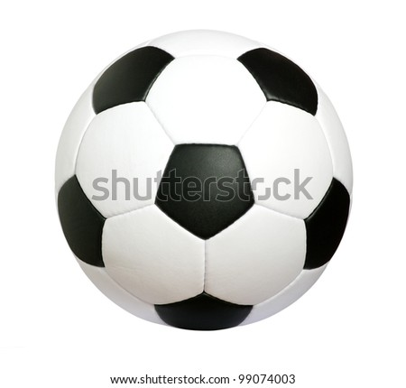 soccer ball isolated on the white