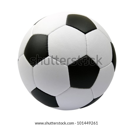soccer ball isolated on white