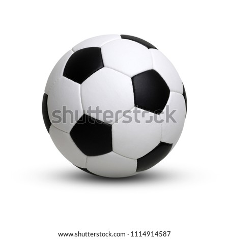 soccer ball isolated on white #1114914587
