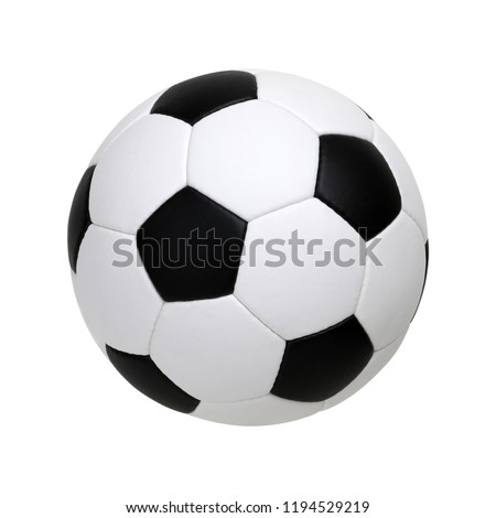 soccer ball isolated on white #1194529219