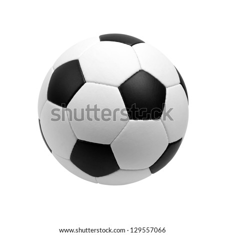 soccer ball isolated on white - Shutterstock ID 129557066