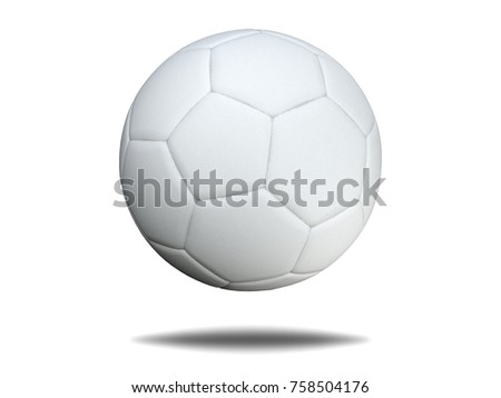 soccer ball isolated on white background. #758504176
