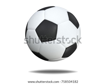 soccer ball isolated on white background. #758504182