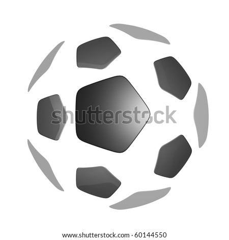 Soccer ball isolated on white background with clipping path.