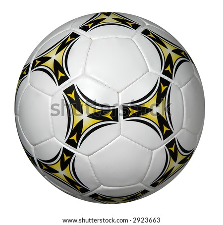 Soccer ball isolated over a white background