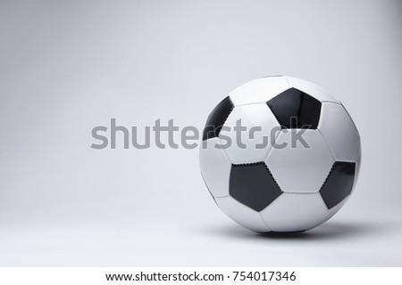 Soccer ball isolated studio shoot. #754017346