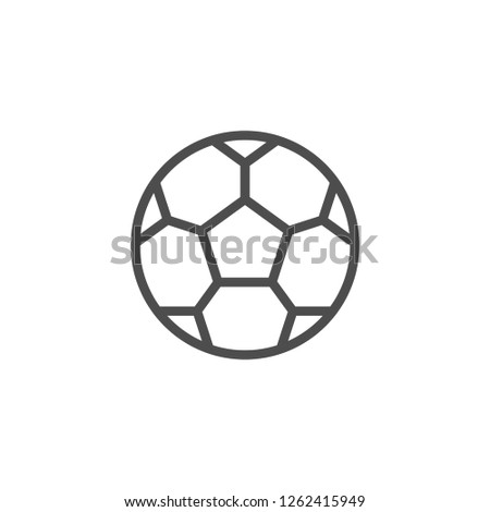 Soccer ball line icon isolated on white