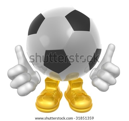 Soccer ball mascot illustration
