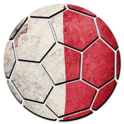 Soccer ball national Malta flag. Malta football ball.