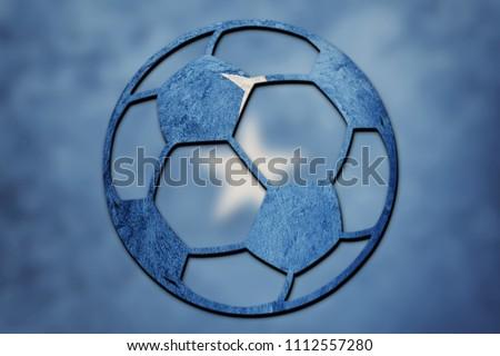Soccer ball national Somalia flag. Somalia football ball. - Shutterstock ID 1112557280