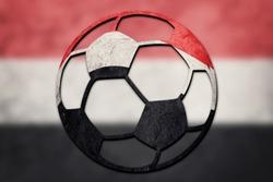 Soccer ball national Yemen flag. Yemen football ball.