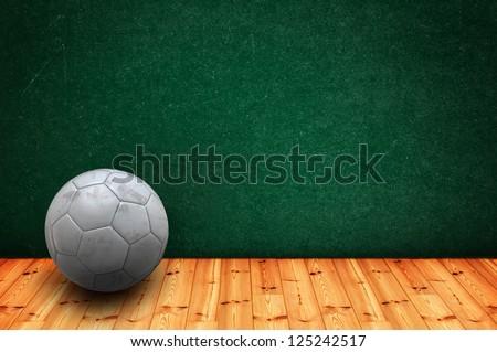 Soccer ball on classroom floor
