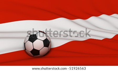 soccer ball on country flag