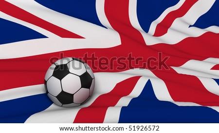 soccer ball on country flag