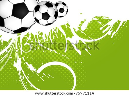 Soccer ball on grunge background, element for design, illustration