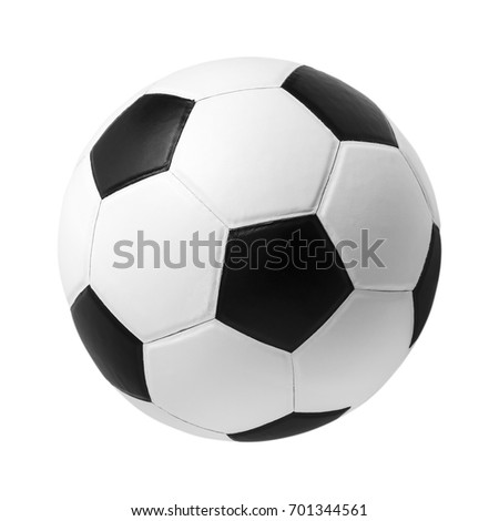 soccer ball on isolated.  #701344561